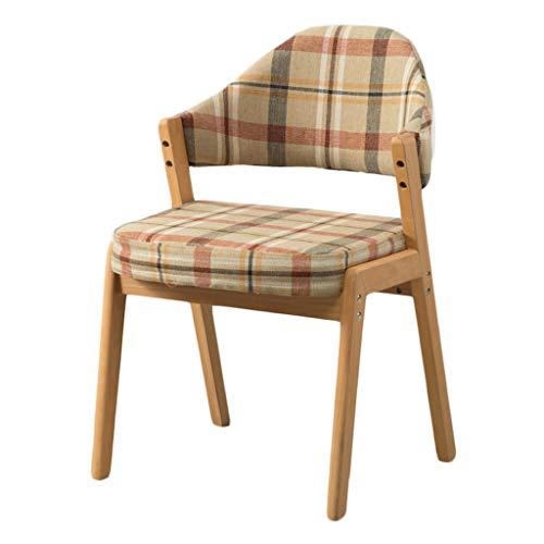 TXXM Silla de comedor, silla de escritorio simple, respaldo creativo, silla de ocio, silla de comedor para adultos en casa (color claro)