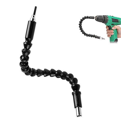 Flexibele verlengschroevendraaier, Cosiki 11,6-inch verlengde schroevendraaierbithouder met magnetische Quick Connect aandrijfaspunt