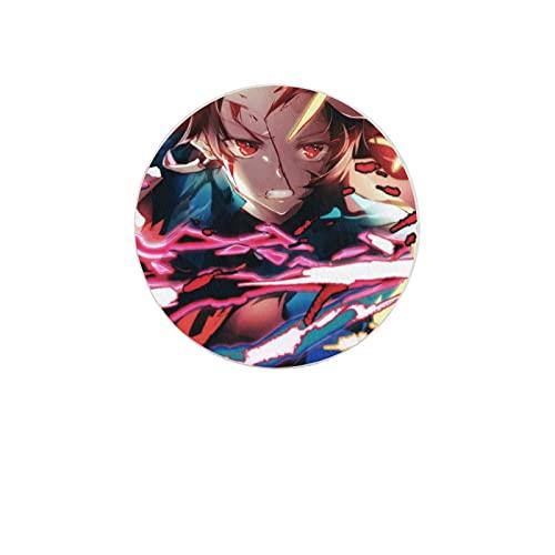Posavasos de anime Demon Slayer para bebida, absorbente de diatomita, posavasos redondos para bebidas, decoración del hogar, almohadilla de jabón para protección de mesa (anime)