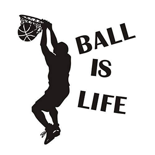Ball is Life Etiqueta de La Pared Del Jugador de Baloncesto, Extraíble Pegatinas de Pared Del Jugador Deportivo Decoración Perfecta para Niños Adolescentes Dormitorio Sala de Estar