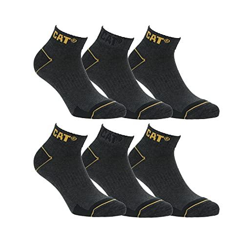 CAT Caterpillar Herren Universal kurze Socken (43-46, 6 Paar Grau)
