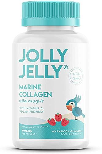 Marine Collagen Tapioca Gummies - 99mg - Wild-Caught Hydrolysed Marine Collagen Peptides Tapioca Gummies - Strawberry Flavour - 60 Gummies. 1 Pack