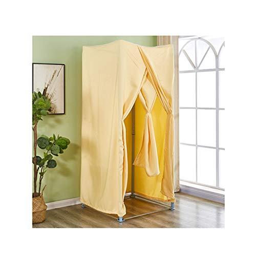 LJIANW Vestuario Portátil, Cuadrado Probador, Tienda De Ropa Vestuario, Sencillo Temporal Vestuario Persianas For Oficina Habitación, 11 Colores, 2 Tamaños (Color : Yellow, Size : 80X80X200CM)