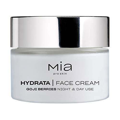 MIA Makeup Hydrata Face Cream, crema facial hidratante, satura la presencia de agua y mantiene el equilibrio de...