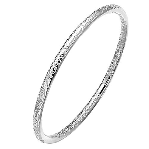 Hilier 925 Sterling Silver Plated Fashion Bangle Bracelet (Bosmia)