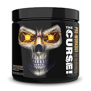 JNX Sports The Curse! Pre Workout Supplement - Intense Energy & Focus Instant Strength Gains Enhanced Blood Flow - Nitric Oxide Booster with Creatine & Caffeine - Men & Women | Orange Mango | 50 Srv