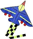 cometas para niños cometa infantil Cometa para niños Gran cometa de avión de combate para niños Fácil de volar Colorida cometa de avión con cola larga, cometa duradera, juegos y actividades al a