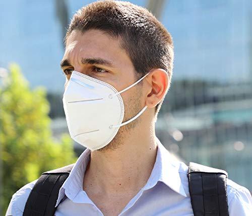 Premium Mundschutz Atemschutzmasken zertifizierte FFP2 Masken Infektionsschutz Gesichtsmaske Staubschutz Schutzmaske (20 Stück) - 4
