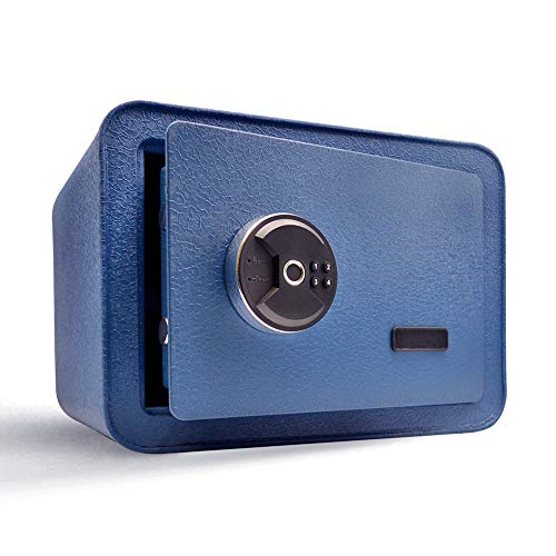 Guard Dog Security Biometric Safe Box - Fingerprint Safe and keypad Dual System - Suitable for Jewelry and Cash - Ideal for Homes, Hotels, and Offices - Blue