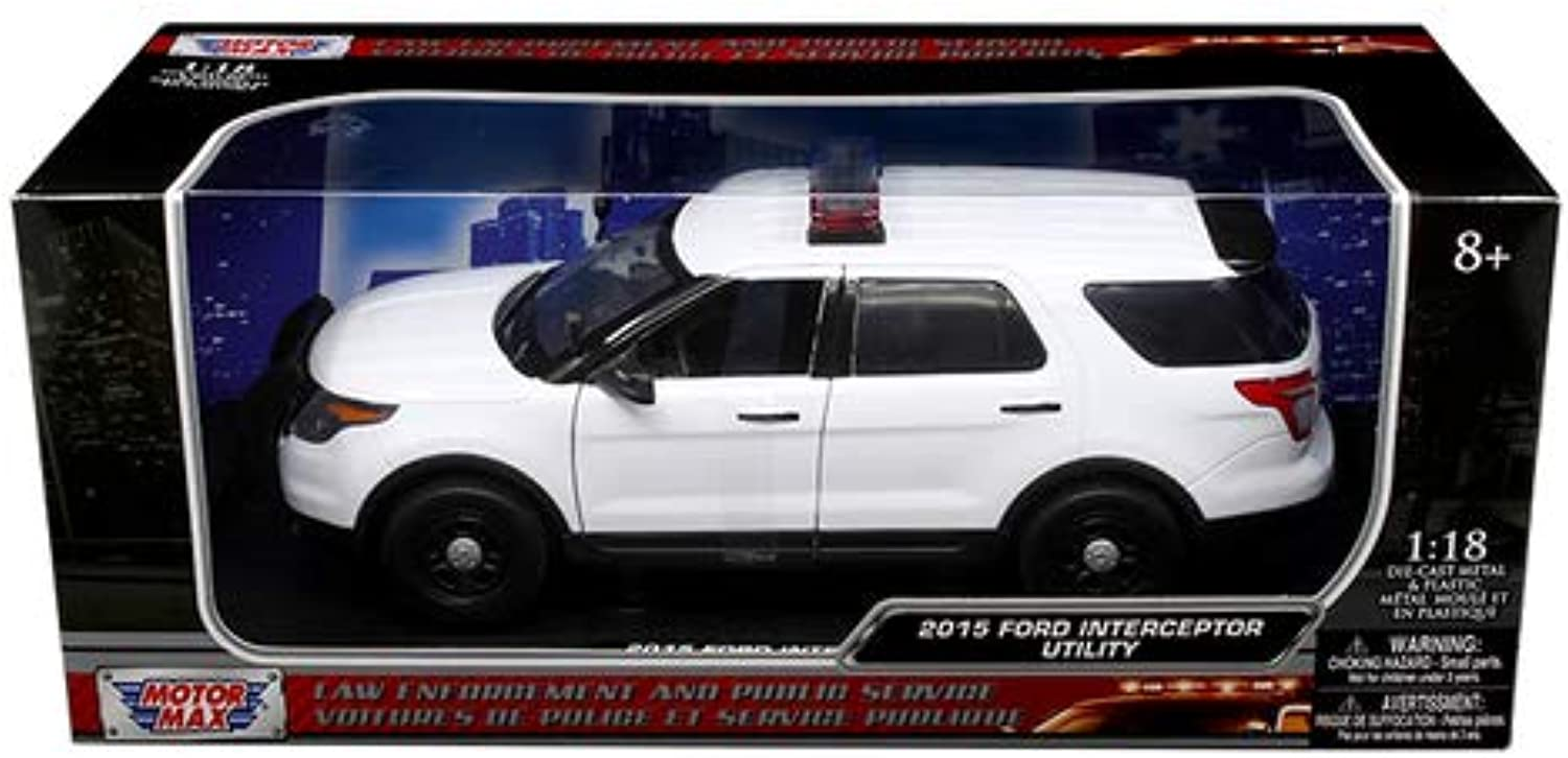 Motor Max 1 18 2015 Ford Police Interceptor Utility with Lite Bar Diecast Vehicles 73541