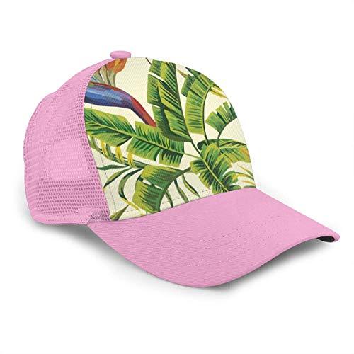 VJSDIUD Sombrero Baseball Hat Mesh Trucker Style Hat Cap Camping Hat Hawaiian Plant Color Flowers