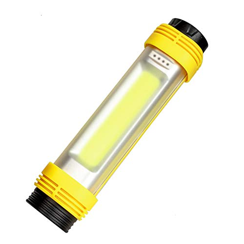 ZÖNNLite Rechargeable Flashlight COB 6000 Lumens LED Camping Lantern 3 Switches Control 8 Modes Power Bank Function Perfect for Hiking Biking Fishing etc