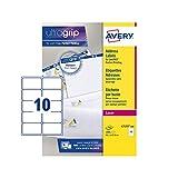 Avery L7173-100 Etichette per indirizzi per pacchi, 10 Pezzi per Foglio, 100 Fogli, 99.1 x...
