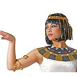Set gioielli Cleopatra coroncina e bracciale per travestimento egiziana