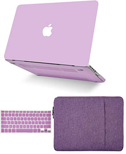 KECC Laptop Case Compatible with MacBook Air 13' w/Keyboard Cover + Sleeve Plastic Hard Shell Case A1466/A1369 (Lavender)