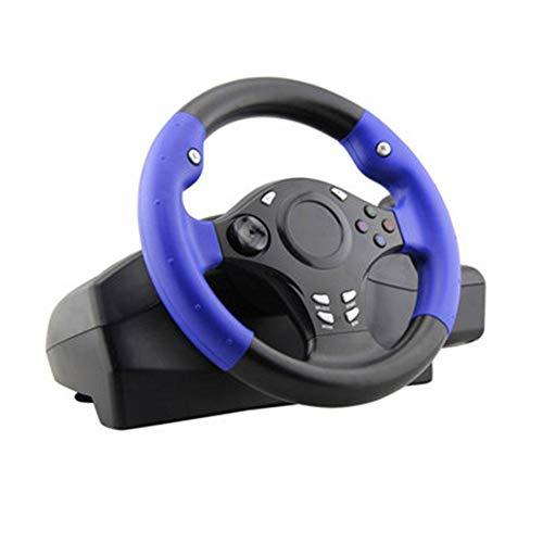 earlyad 7 en 1 270 ° Volant de console de jeu pour PS4 / PS3 / PC/Xbox-ONE/XBOX-360 / Interrupteur / Android, noir et bleu Calm Newcomer Applied