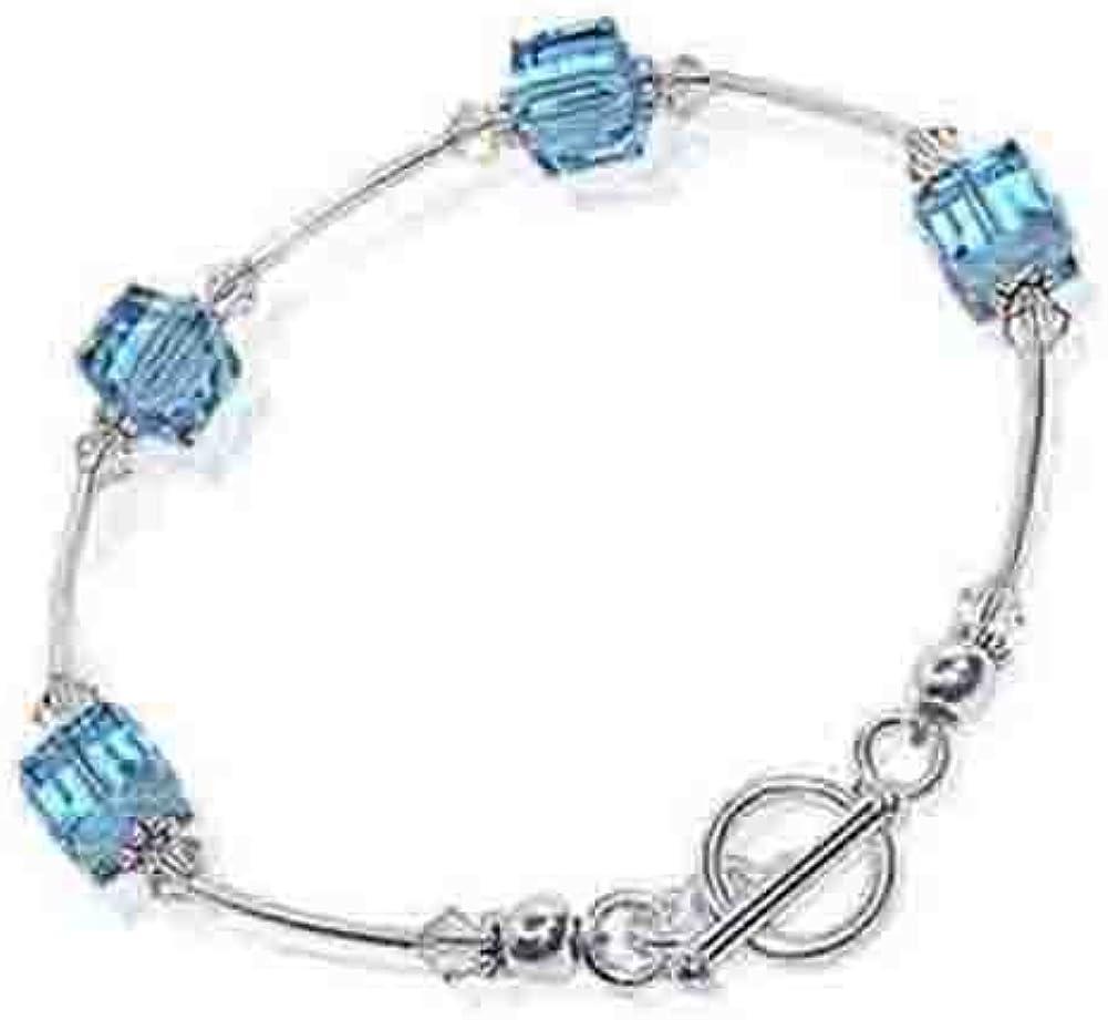 Overseas parallel import regular item Gem Recommended Avenue Sterling Silver Crystal Made w Bracelet 7.5