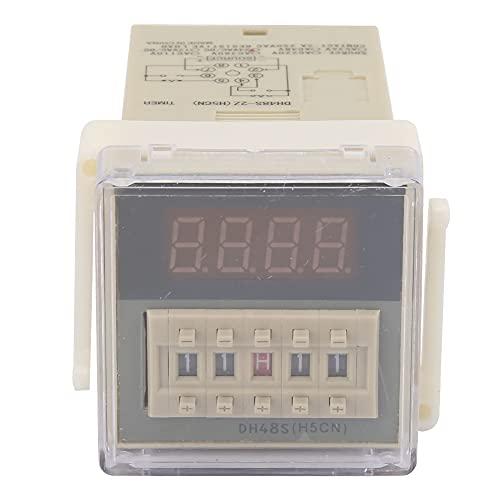 O111ROM DH48S-2Z Pantalla LCD Temporizador de tiempo Relé de retardo 8 pines 0.01S-9999H Se utiliza para vallas publicitarias al aire libre, talleres de fábrica, lámparas de(220VAC)