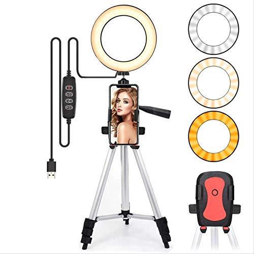 Led-lichtring voor selfie-lamp Ringlicht-statief met lampfotografie Verlichting voor YouTube-houder Camera Telefoonclip Studio