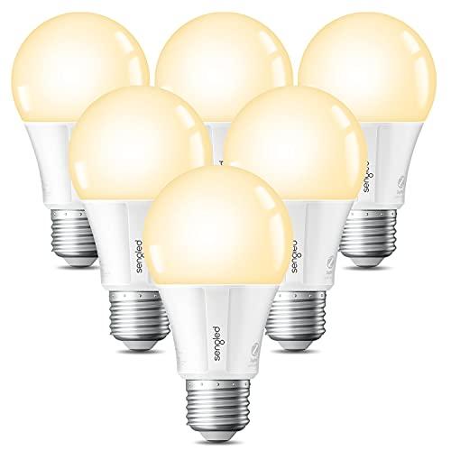 Sengled Alexa Smart Light Bulbs, Smart Bulbs That Work with Alexa, Google Home, SmartThings, Zigbee Smart LED Bulb, Smart Hub Required, A19 E26, 800LM, 2700K Soft White, 9W (60W Equivalent), 6 Pack