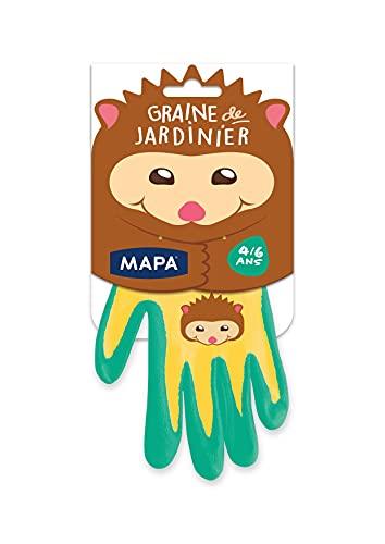 MAPA - Graine de Jardinier - Gants de Jardinage pour les Enfants - Textile polyamide avec Enduction Nitrile - Protection et Confort - 1 paire - Taille 4/6 ans