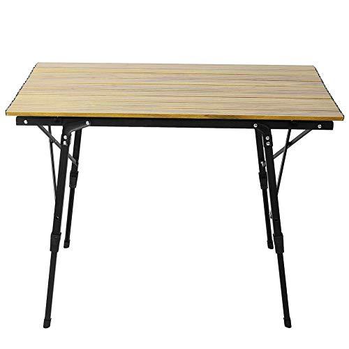 Alomejor Tragbare Einstellbare Camping Picknick Aluminiumlegierung Klapptisch Schreibtisch Montage