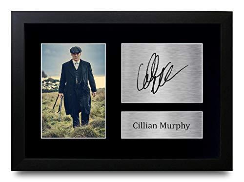 HWC Trading Cillian Murphy A4 Gerahmte Signiert Gedruckt Autogramme Bild Druck-Fotoanzeige Geschenk Für Peaky Blinders Tv-Show-Fans