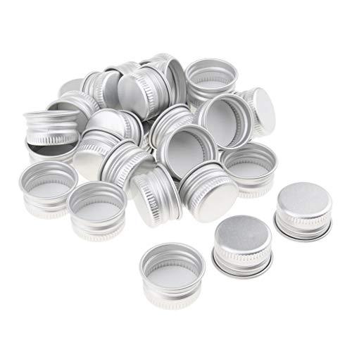 MERIGLARE 30x Cas De Conteneur Cosmétique Bride Filetage Aluminium Caps Couvre Couvercles De Bouteille - 20 Calibre