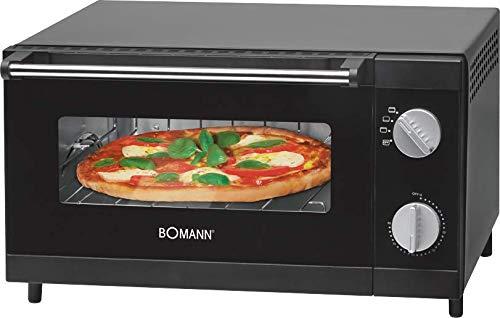 Bomann MPO 2246 CB Horno sobremesa especial para pizza, 1000 W, 12 litros, Negro