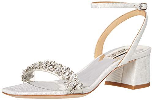 Badgley Mischka womens Harlow Heeled Sandal, White, 7.5 US