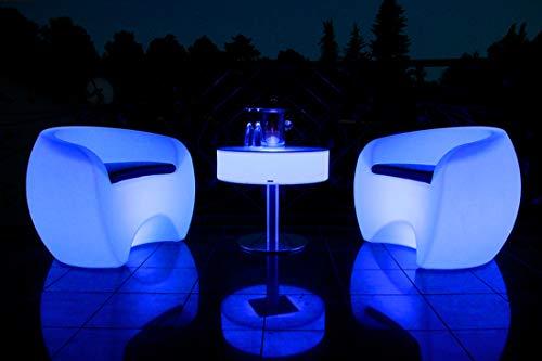 FURSTAR LED Lounge Leuchtmöbel ROXDA M Couchtisch, Loungetisch, Gastrotisch, Designtisch