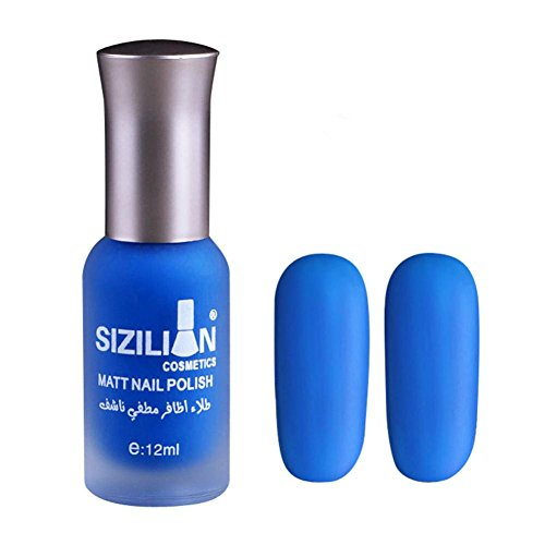 Xshuai Nagellack 2018 neue bunte Scrub strapazierfähiger Materie Nagellack schnell trocken langlebig Nail Art Matte Nagellack (Blau)