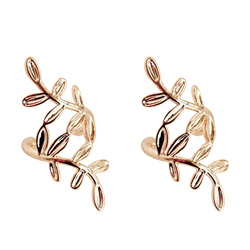 WeiMay. 1 Paar Blätter Clip auf Ohrringe für Frauen Ohr Manschette schmuck gefälschte Piercing ohrclips mädchen Geschenk Modeschmuck
