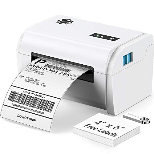 Shipping Label Printer 4x6 USB Direct Thermal Printer 160mm/s High Speed, Mac & Windows Driver, Desktop Barcode Label Printer for Shipping Packages, Support USPS,Amazon,Ebay,Shopify,Paypal,DHL,FedEx.