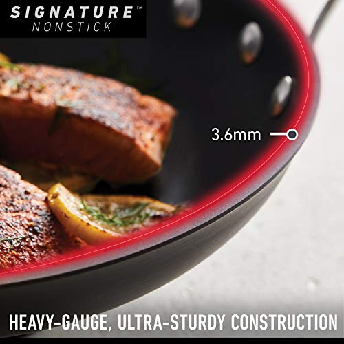 Calphalon Signature Hard-Anodized Nonstick 12-Inch Flat Bottom Wok with Cover
