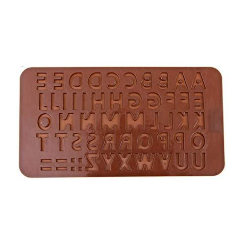 Kongqiabona-UK Lettere dell'alfabeto Sapone cubetto di Ghiaccio Caramelle al Cioccolato Sapone Stampo in Silicone Decorazione della Torta Piastra Strumenti di Cottura Utensili da Cucina
