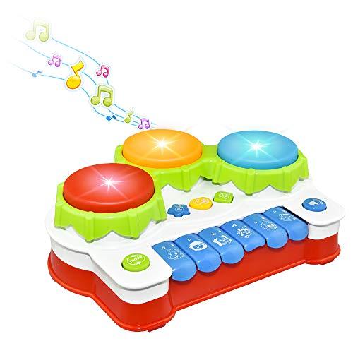 LetsGO toyz Musikinstrumente für Kinder, Babyspielzeug ab 1 2 3 Jahre Baby Klavier Spielzeug für 1 2 3 Jahre Alte Mädchen, Kleinkind Klavierspielzeug Keyboard Geschenke für Kinder Junge (1)