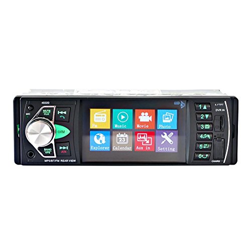 MTTLS Autoradioschermo HD da 4,1 pollici e Bluetooth stereo ricevitore ricevitore audio HD con USB e il ricevitore slot per schede SD auto MP5 AUX 12V/24V - 4022D