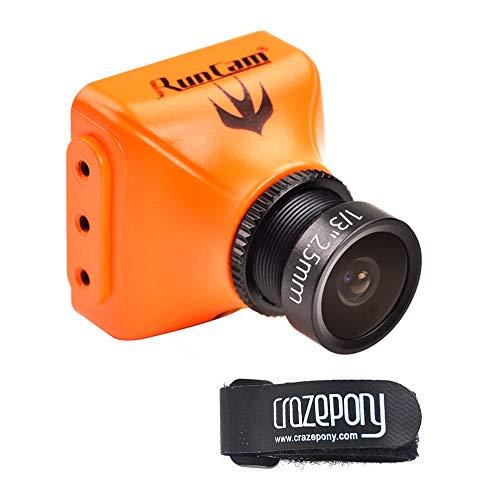 Crazepony RunCam Swift 2 600TVL FPV Camera 2.5mm 130 Degree OSD WDR DC 5-36V NTSC Integrated MIC for Multicopter Orange