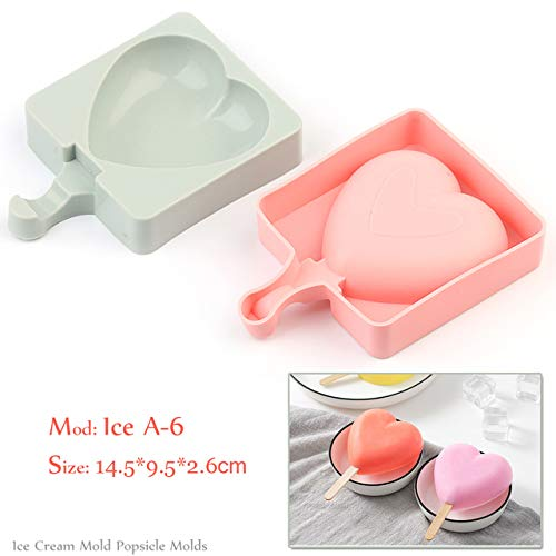 Coner Silicone Ice Cream Mold Popsicle Mallen Frozen Ice Mold met Popsicle Sticks Homemade Freezer Ice Lolly Mold, Ice A -6