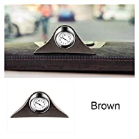 車の時計の装飾ルミナス電子メーター時計ノンスリップマットタイムオートインテリアオーナメント蛍光ウォッチアクセサリーギフト (Color : Brown)