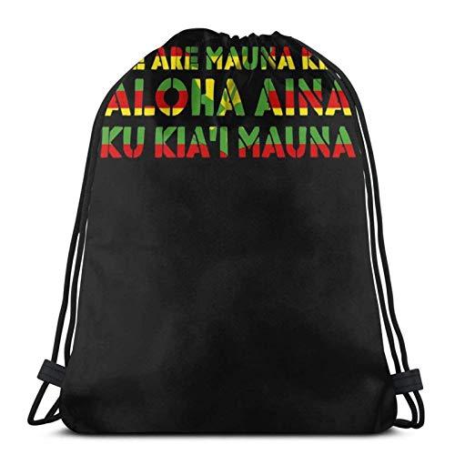 Hdadwy We are Mauna Kea Sport Bag Gym Sack Drawstring Backpack for Gym Shopping