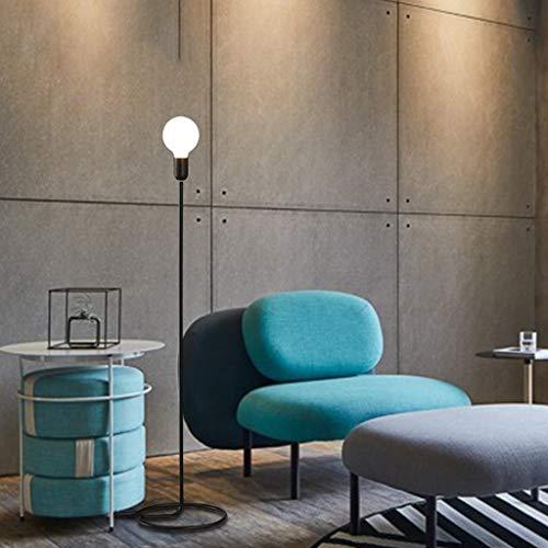 Eiu metalen vloerlamp van glas, lampenkap, zwart, studiolamp, woonkamer, slaapkamer, eenvoudig, vloerlamp, 145 cm, M20-03-12