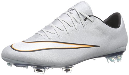Nike Herren Mercurial Vapor X CR FG Fußballschuhe, Grau (Mtllc Slvr/White-Hypr Trq-Brgh), 44.5 EU