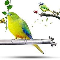 鳥/オウム用遊び玩具 ペット用品 スタンド フレーム ステンレススチール カップ付 ストレス解消 安全で取り付けが簡単 ほとんどの鳥かごに適しており 直径2.2cm /全長22.5cm