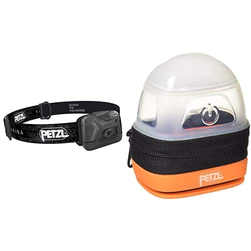 PETZL Tikkina Linterna Frontal, Unisex Adulto, Negro, Talla Única + -Noctilight, Negro/Naranja