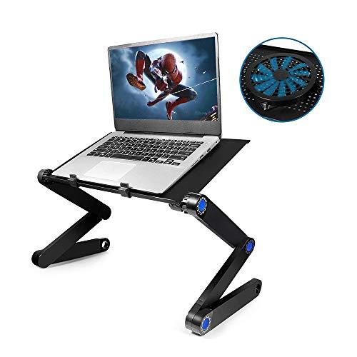 Xunpuls stojaki na laptopa, regulowany stół na biurko, składany aluminiowy stojak na laptopa, system super rozpraszania ciepła, nadaje się do każdego miejsca i celu, ergonomiczna konstrukcja