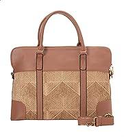 Deeda Menarva Geometric-Pattern Laptop Bag with Crossbody Strap for Women
