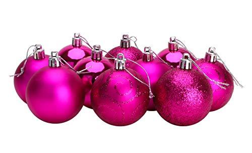 Christmas Concepts® Confezione da 10 60mm - Baubles per albero di Natale - Baubles decorati lucidi,...