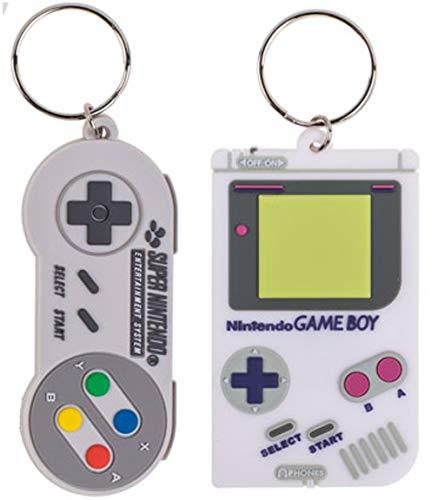 Bada Bing 2er Set Schlüsselanhänger Nintendo Controller Und Gameboy Retro Geschenk 31